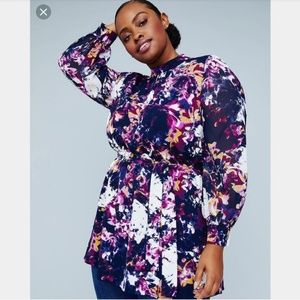 EUC Lane Bryant X Girl with Curves Floral Tunic 24